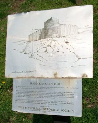 Hannah Cole's Fort Marker image. Click for full size.