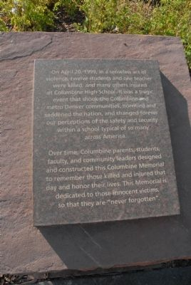 Columbine High School Marker image. Click for full size.