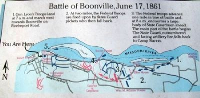 Diagram of Battle of Boonville on Marker image. Click for full size.