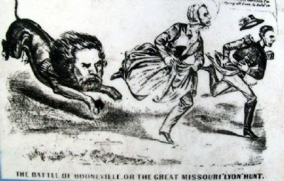 Period Lithograph on Battle of Boonville Marker image. Click for full size.