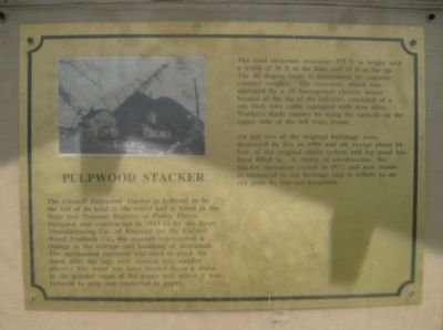 Pulpwood Stacker Marker image. Click for full size.