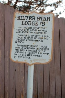 Silver Star Lodge # 5 Marker image. Click for full size.