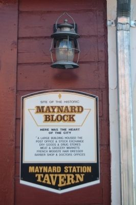 Maynard Block Marker image. Click for full size.