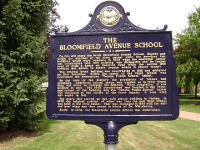 The Bloomfield Avenue School Marker image. Click for full size.