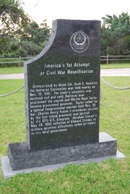 America's 1st Attempt at Civil War Reunification Marker image. Click for full size.