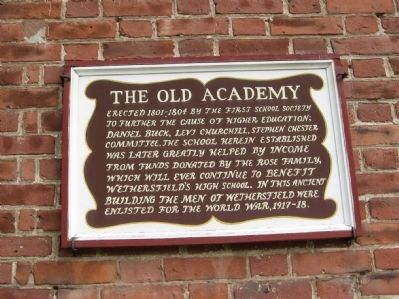The Old Academy Marker image. Click for full size.