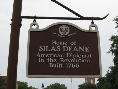 Home of Silas Deane Marker image. Click for full size.