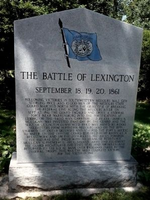 The Battle of Lexington Marker image. Click for full size.