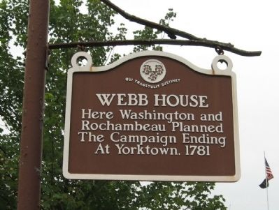 Webb House Marker image. Click for full size.