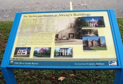 The Styles and Stories of Vevay's Buildings Marker image. Click for full size.