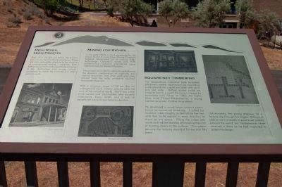 The Comstock Trail and History Kiosk Marker, Panel 3 image. Click for full size.