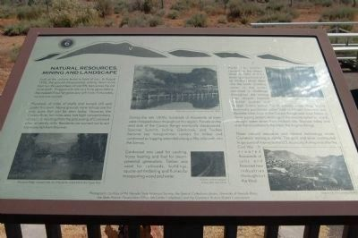 The Comstock Trail and History Kiosk Marker, Panel 6 image. Click for full size.