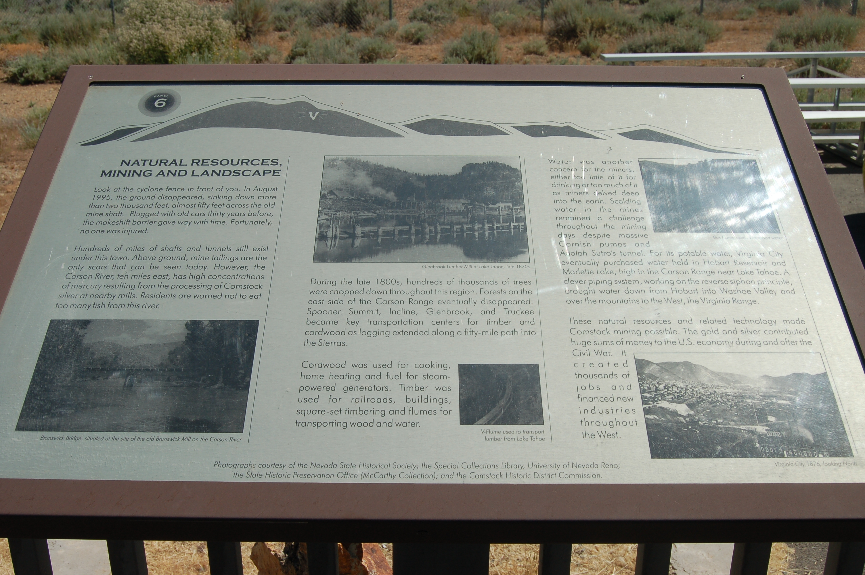 The Comstock Trail and History Kiosk Marker, Panel 6