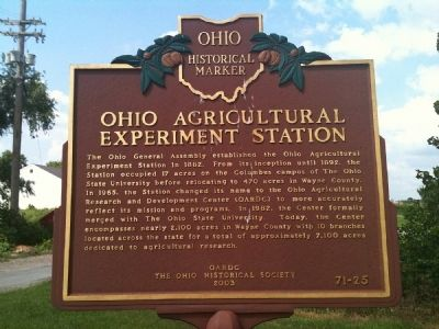 Ohio Agricultural Experiment Station Marker image. Click for full size.
