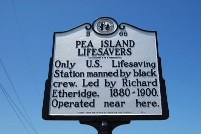 Pea Island Lifesavers Marker image. Click for full size.