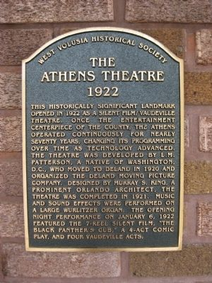 The Athens Theatre Marker image. Click for full size.
