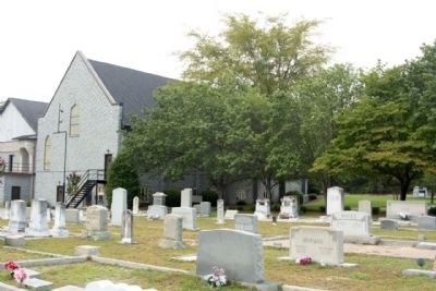 St. Peter's (Meetze's) Lutheran Church and cemetery image. Click for full size.