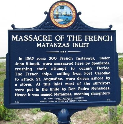 Massacre of the French Marker image. Click for full size.