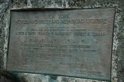 New York World War Veterans Memorial Highway Marker image. Click for full size.
