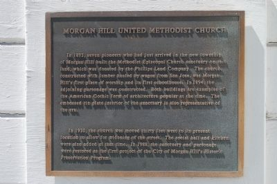 Morgan Hill United Methodist Church Marker image. Click for full size.