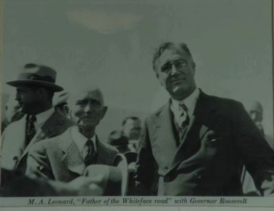 M.A. Leonard & Governor Roosevelt image. Click for full size.