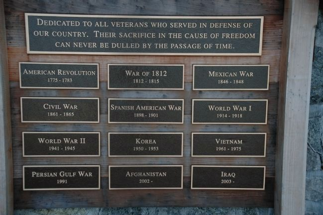 Dedicated to Veterans of All Wars image. Click for full size.