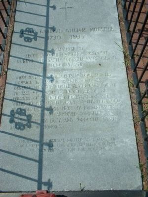 Grave of General William Moultrie image. Click for full size.