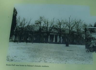 Stone Hall was home to Palmer's female students. image. Click for full size.