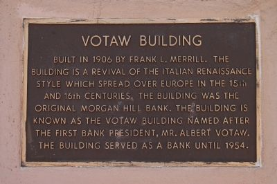 Votaw Building Marker image. Click for full size.