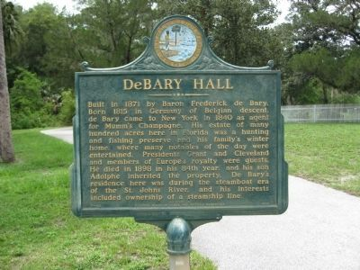 DeBary Hall Marker image. Click for full size.