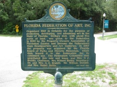 Florida Federation of Art, Inc. Marker image. Click for full size.