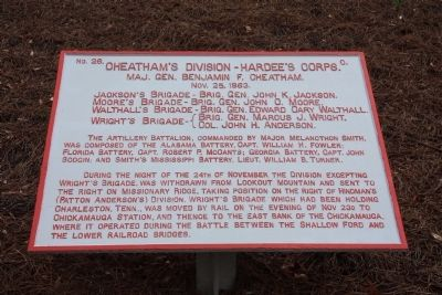 Cheatham's Division - Hardee's Corps. Marker image. Click for full size.
