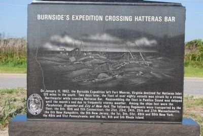 Burnside's Expedition Crossing Hatteras Bar Marker image. Click for full size.
