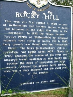 Rocky Hill Marker image. Click for full size.