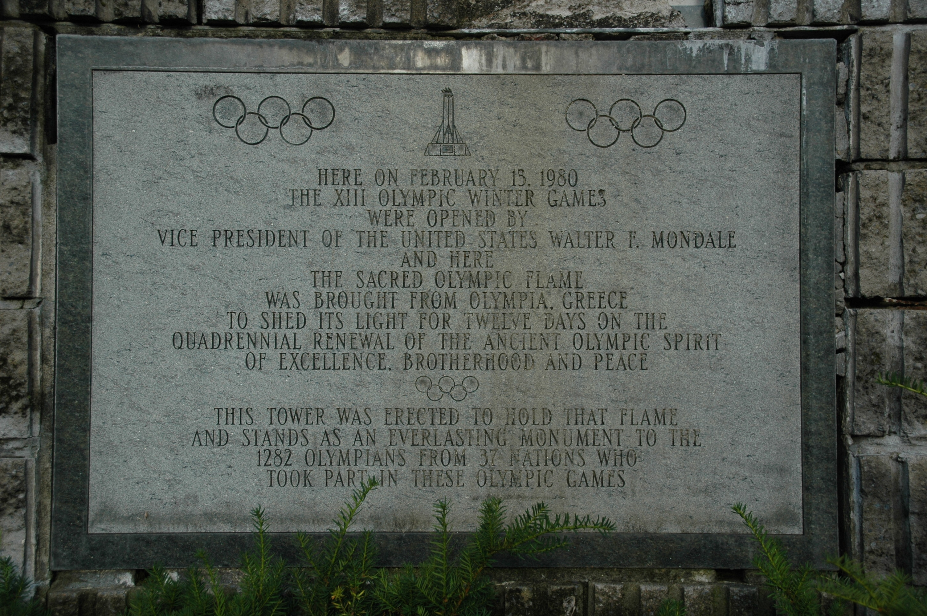 The XIII Winter Olympic Games Marker