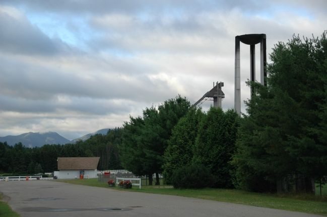 Olympic Flame Tower and 120M Ski Jump Tower image. Click for full size.