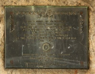 Mexican Border and World War Memorial Marker image. Click for full size.