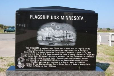 Flagship USS Minnesota Marker image. Click for full size.