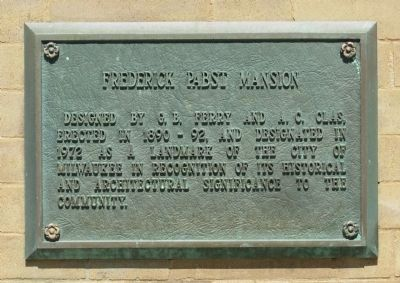 Frederick Pabst Mansion Plaque image. Click for full size.