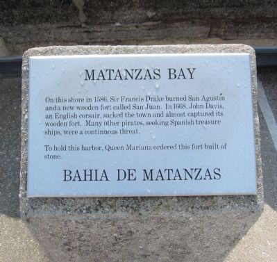 Matanzas Bay Marker image. Click for full size.