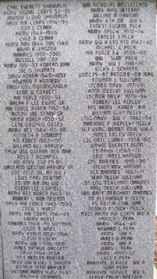 Erie Veterans Memorial Honor Roll image. Click for full size.