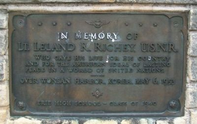 Lt. Leland R. Richey, U.S.N.R. Memorial image. Click for full size.