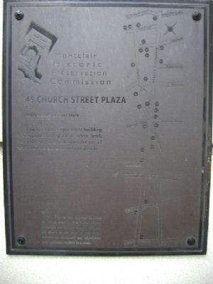 45 Church Street Plaza Marker image. Click for full size.