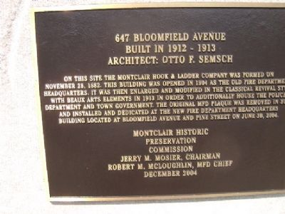 647 Bloomfield Avenue Marker image. Click for full size.