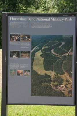 Horseshoe Bend National Military Park Marker (Left Panel) image. Click for full size.