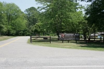 Entrance to Horseshoe Bend National Military Park image. Click for full size.