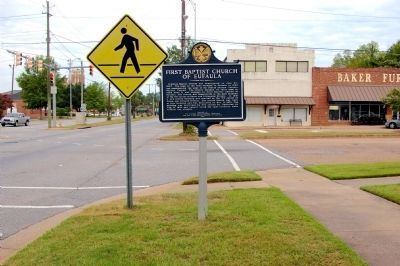 First Baptist Church of Eufaula Marker image. Click for full size.