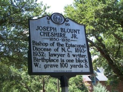 Joseph Blount Chesire, Jr. Marker image. Click for full size.