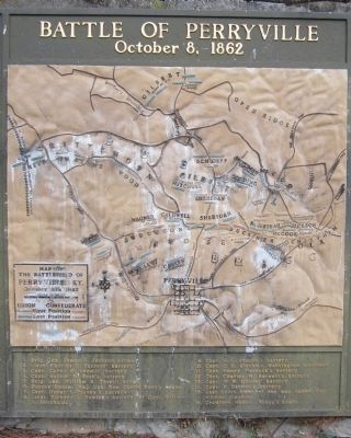 Battle of Perryville Map image. Click for full size.