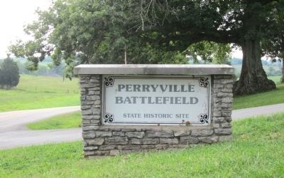 Perryville Battlefield (2 miles north of marker) image. Click for full size.
